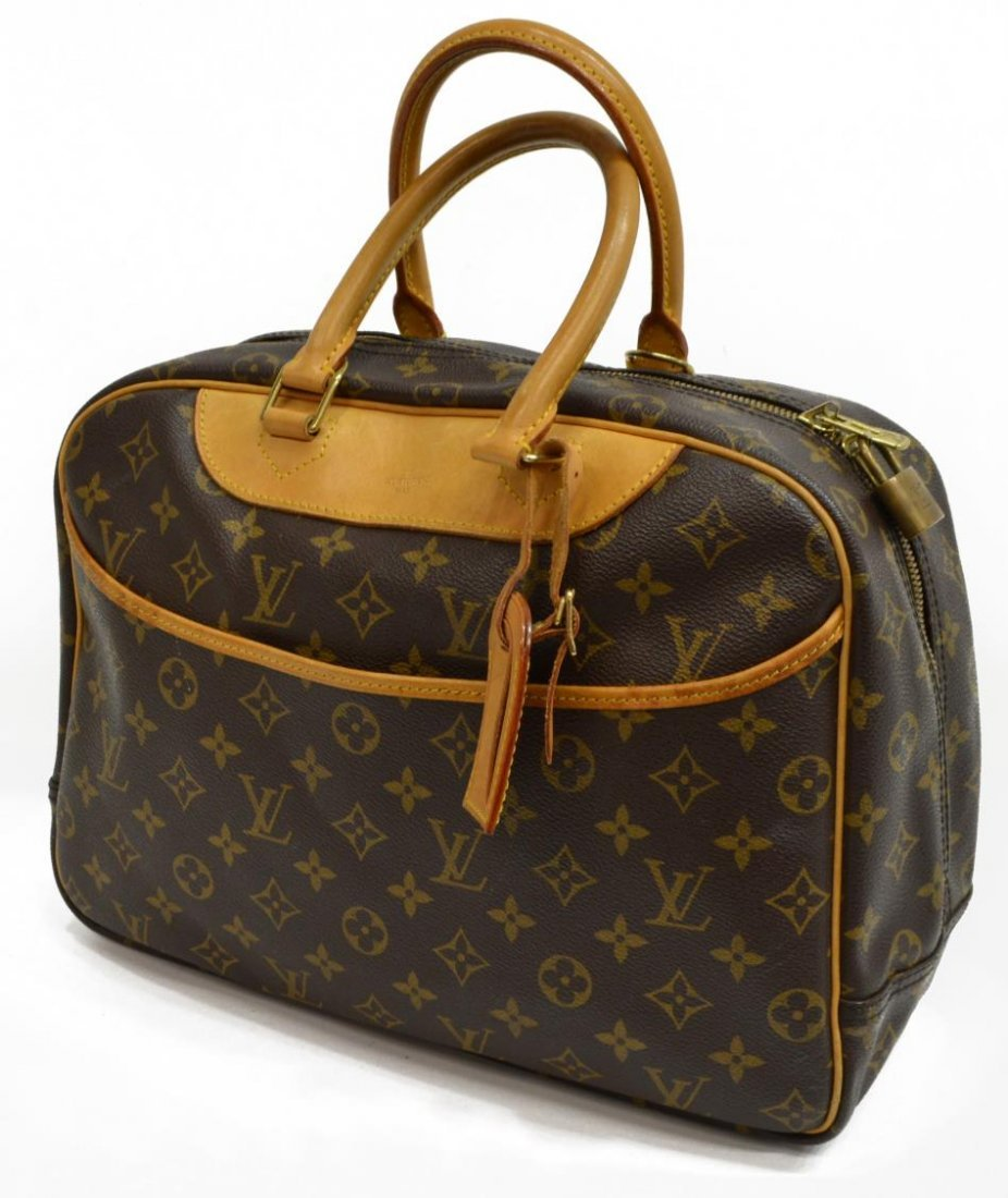 LOUIS VUITTON 'DEAUVILLE' MONOGRAM CANVAS HAND BAG