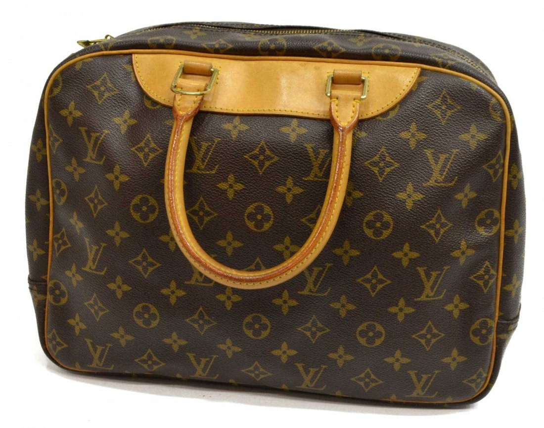 LOUIS VUITTON 'DEAUVILLE' MONOGRAM CANVAS HAND BAG - 3