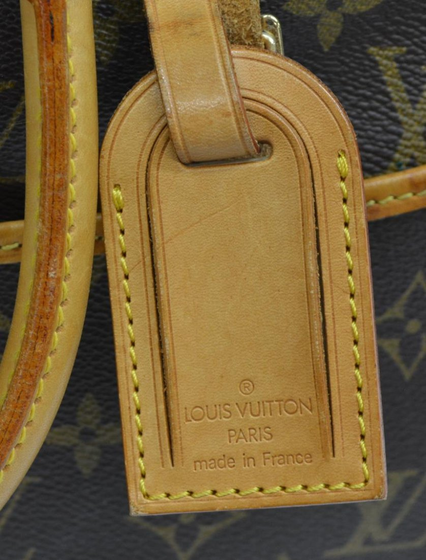 LOUIS VUITTON 'DEAUVILLE' MONOGRAM CANVAS HAND BAG - 5