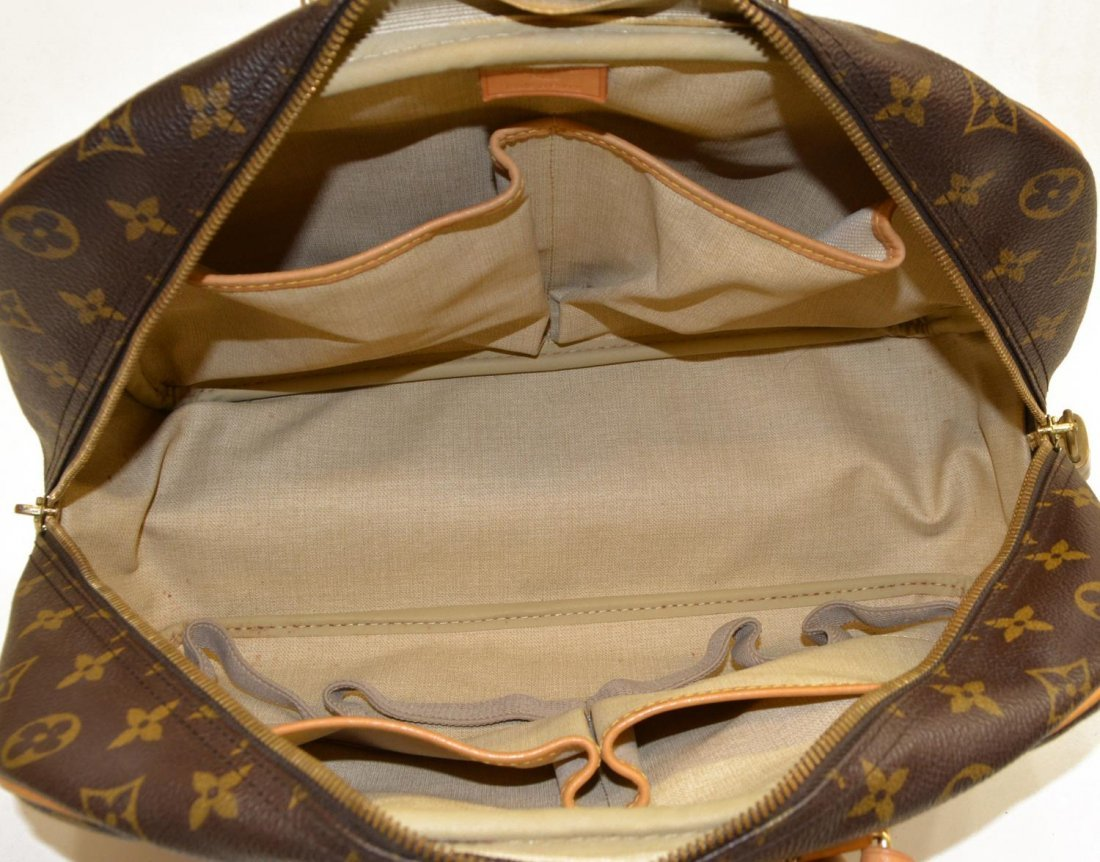 LOUIS VUITTON 'DEAUVILLE' MONOGRAM CANVAS HAND BAG - 7