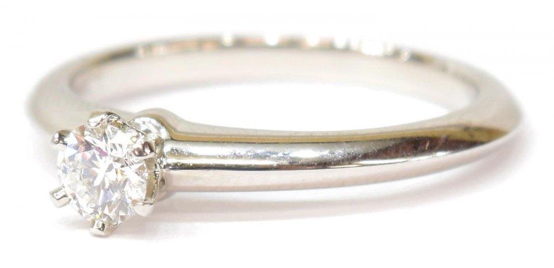 LADIES TIFFANY & CO PLAT & DIAMOND SOLITAIRE RING
