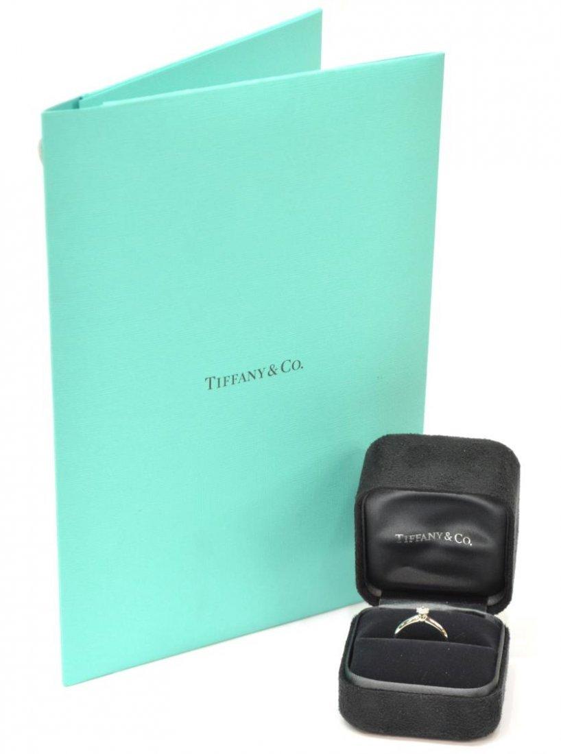LADIES TIFFANY & CO PLAT & DIAMOND SOLITAIRE RING - 2