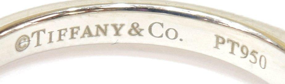 LADIES TIFFANY & CO PLAT & DIAMOND SOLITAIRE RING - 7
