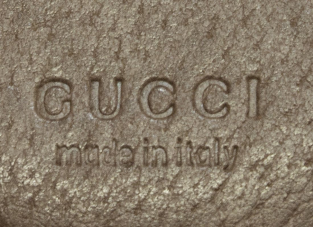 GUCCI BROWN SMALL GRAINED LEATHER HANDBAG - 4
