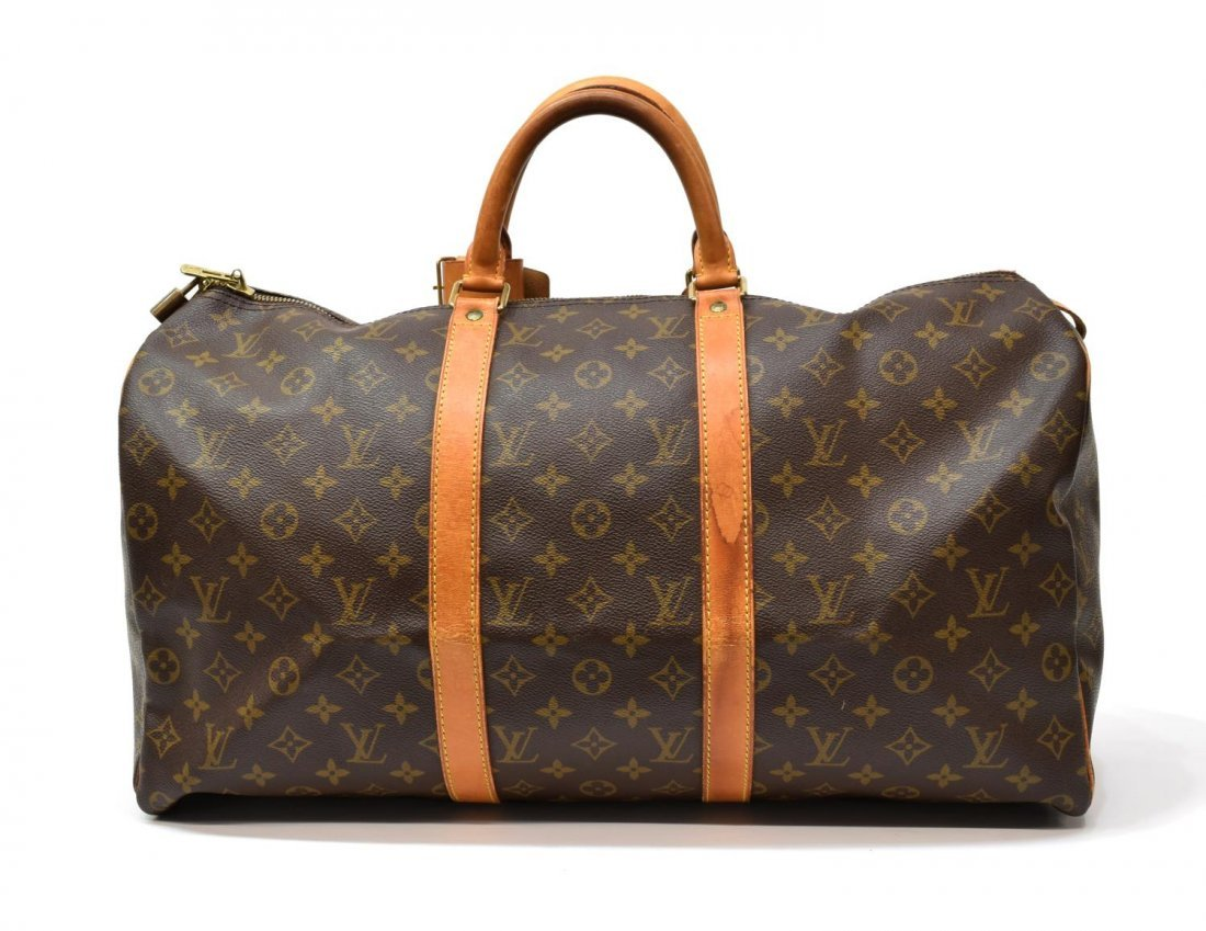 LOUIS VUITTON 'KEEPALL 50' MONOGRAM DUFFLE BAG - 2