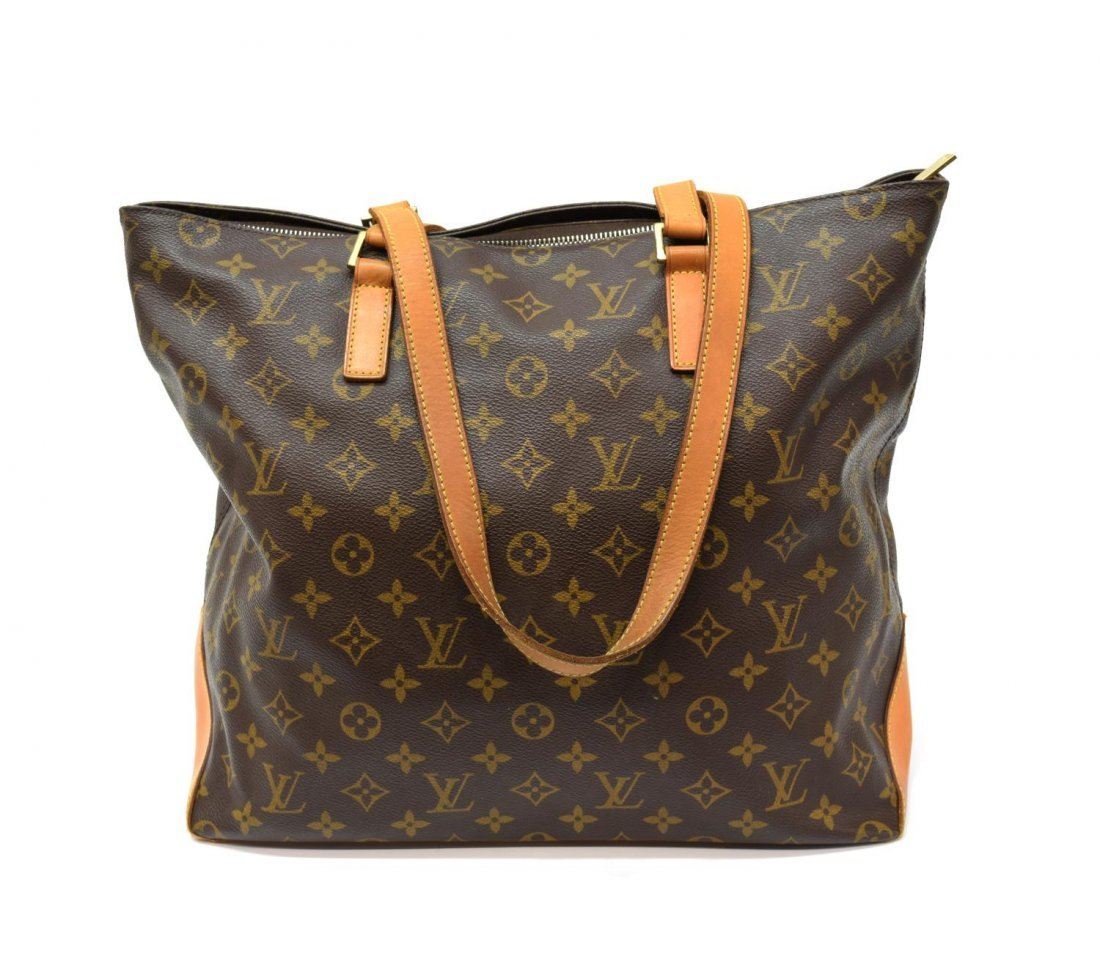 LOUIS VUITTON 'CABAS MEZZO' MONOGRAM CANVAS TOTE - 2