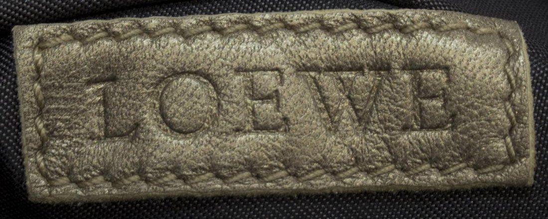 LOEWE 'LEVANTE' SMOOTH LEATHER GOLD TONE HANDBAG - 5