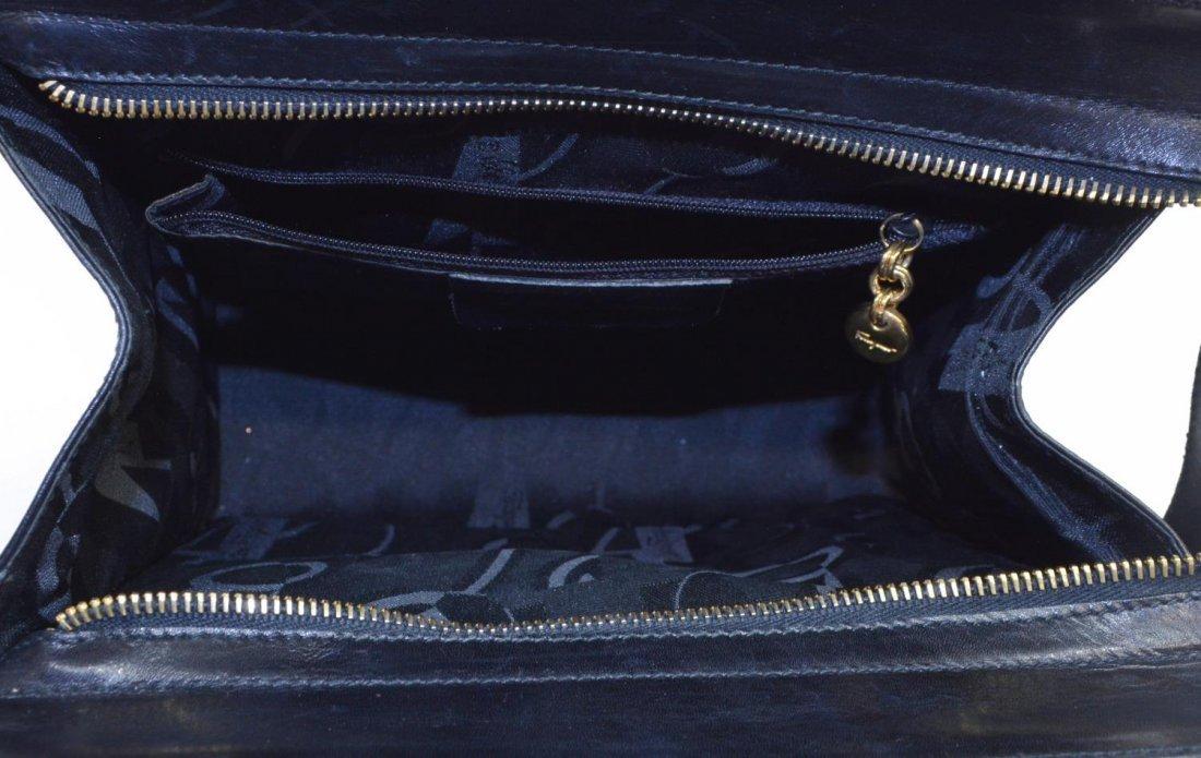 SALVATORE FERRAGAMO BLACK LEATHER SHOULDER BAG - 4