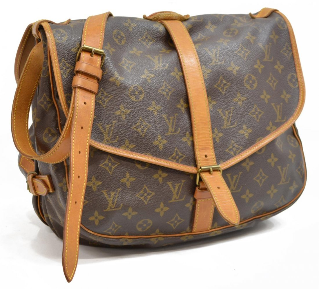 LOUIS VUITTON SAUMUR 30 MONOGRAM CANVAS MESSENGER - 2
