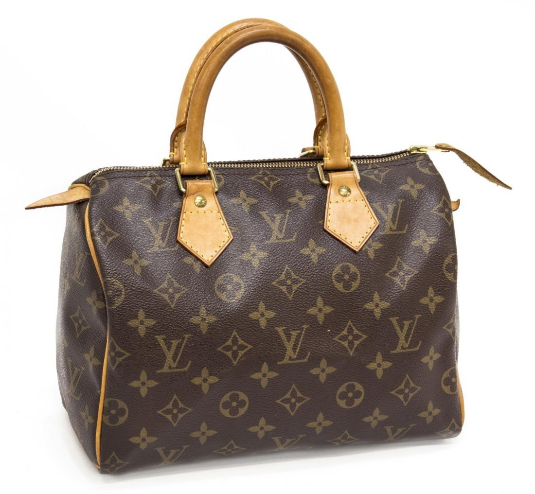 LOUIS VUITTON 'SPEEDY 25' MONOGRAM CANVAS HANDBAG