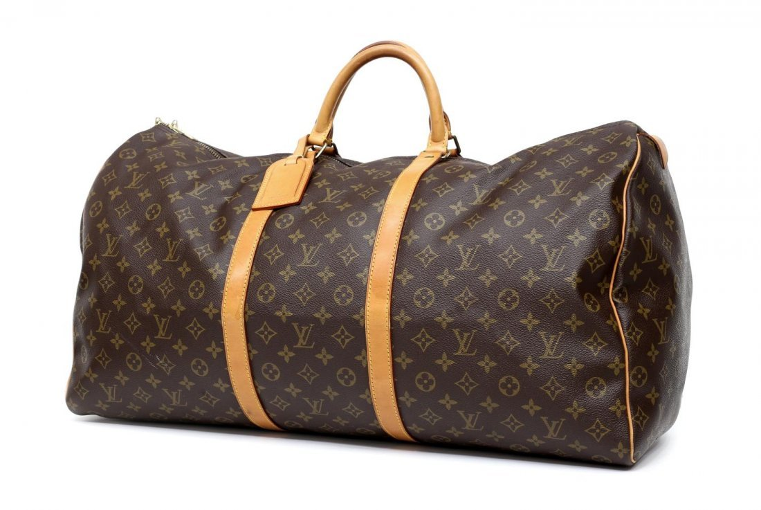 LOUIS VUITTON 'KEEPALL 60' MONOGRAM DUFFLE BAG