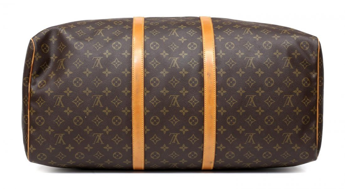 LOUIS VUITTON 'KEEPALL 60' MONOGRAM DUFFLE BAG - 3