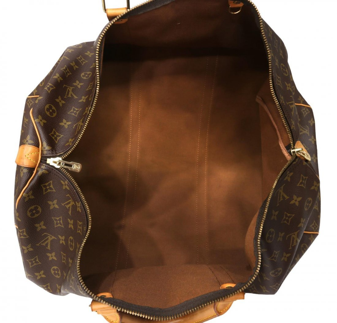 LOUIS VUITTON 'KEEPALL 60' MONOGRAM DUFFLE BAG - 4