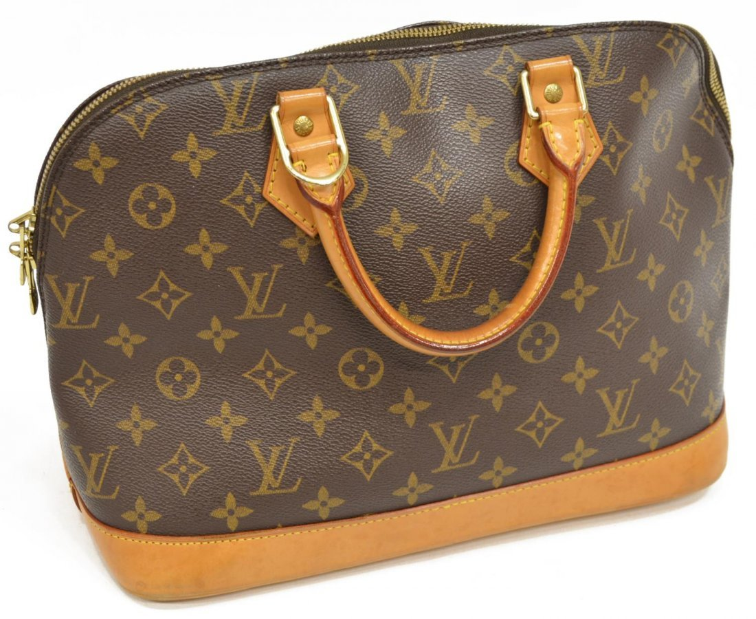 LOUIS VUITTON 'ALMA' MONOGRAM CANVAS HANDBAG