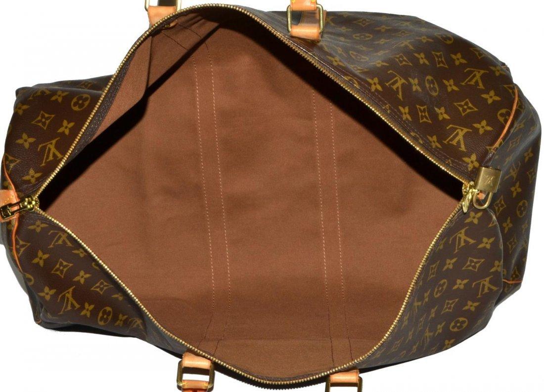 LOUIS VUITTON 'KEEPALL 55' MONOGRAM DUFFLE BAG - 4