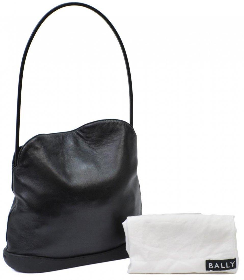BALLY BLACK LEATHER TOTE SHOULDER BAG - 2