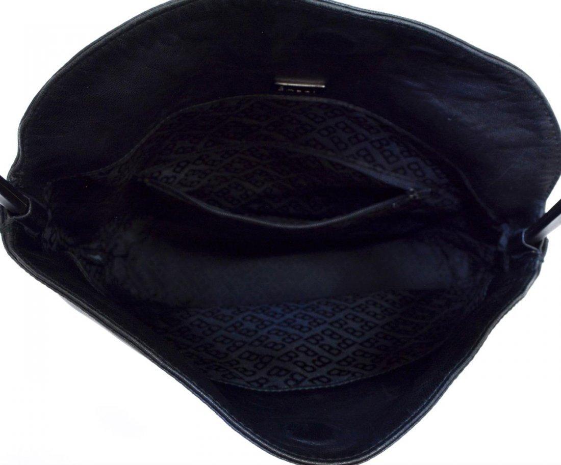 BALLY BLACK LEATHER TOTE SHOULDER BAG - 4