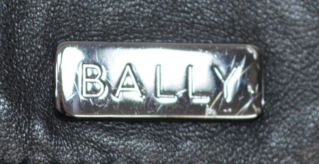 BALLY BLACK LEATHER TOTE SHOULDER BAG - 5