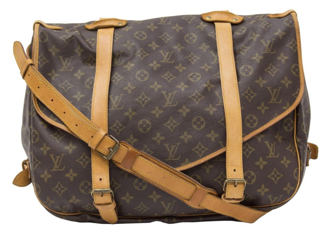 LOUIS VUITTON 'SAUMUR 35' MONOGRAM MESSENGER BAG