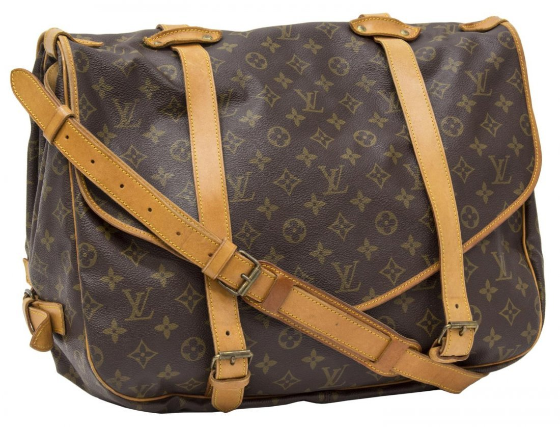 LOUIS VUITTON 'SAUMUR 35' MONOGRAM MESSENGER BAG - 2