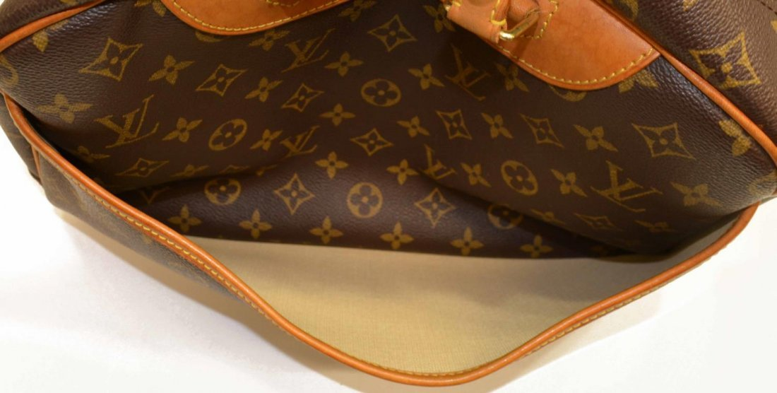LOUIS VUITTON 'DEAUVILLE' MONOGRAM CANVAS HANDBAG - 5