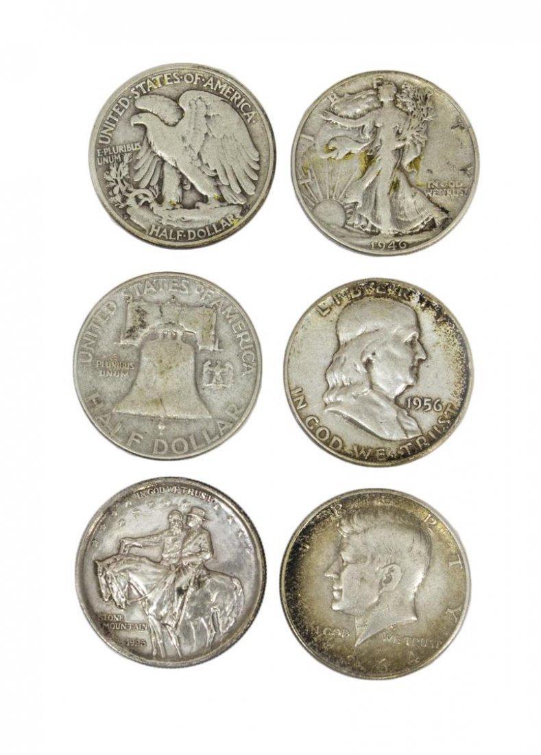 (58) U.S. SILVER HALF DOLLARS, LIBERTY, FRANKLIN - 3