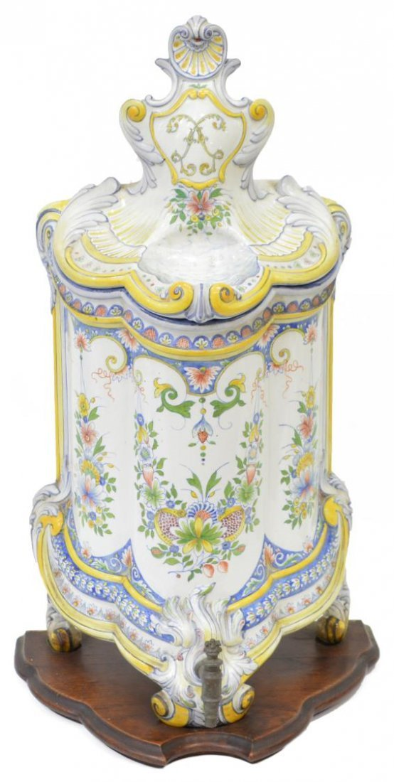 FRENCH HB CHOISY FAIENCE LLAVABO & BOWL, 1899 - 3