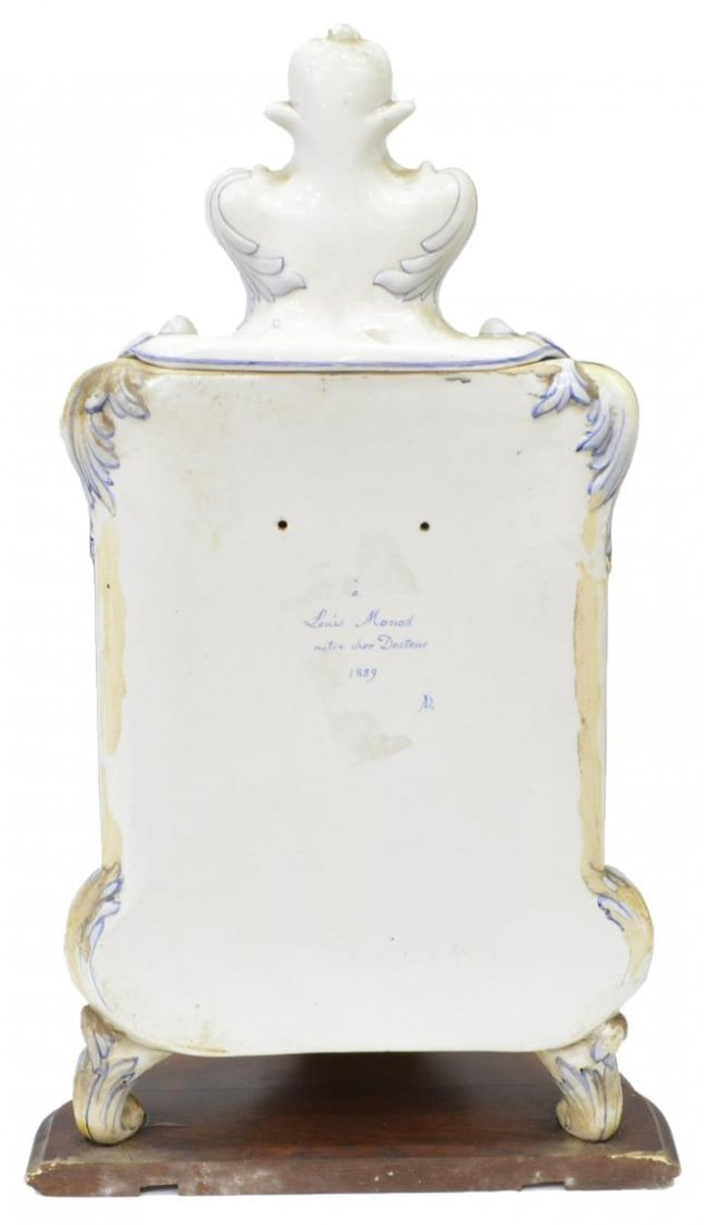FRENCH HB CHOISY FAIENCE LLAVABO & BOWL, 1899 - 4