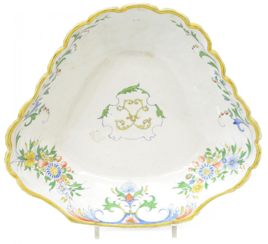 FRENCH HB CHOISY FAIENCE LLAVABO & BOWL, 1899 - 6