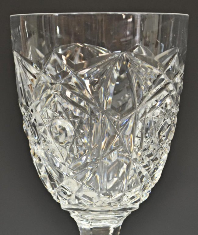 (12) BACCARAT CUT CRYSTAL 'LAGNEY' WATER GOBLETS - 2