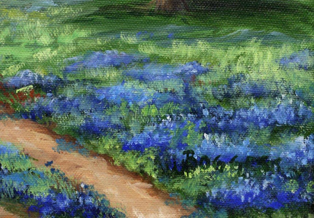 GAYLE BOGGESS (TEXAS 20TH C.) O/C BLUE BONNETS - 4
