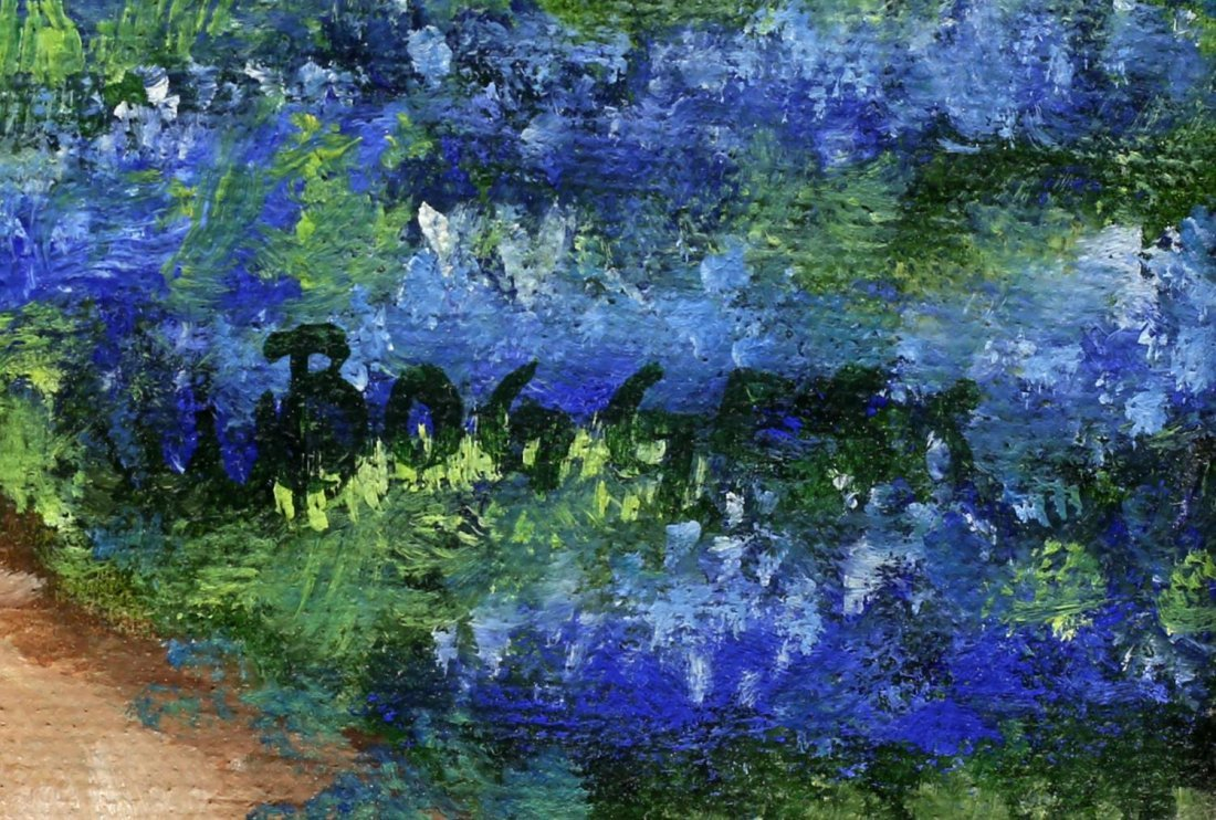 GAYLE BOGGESS (TEXAS 20TH C.) O/C BLUE BONNETS - 5