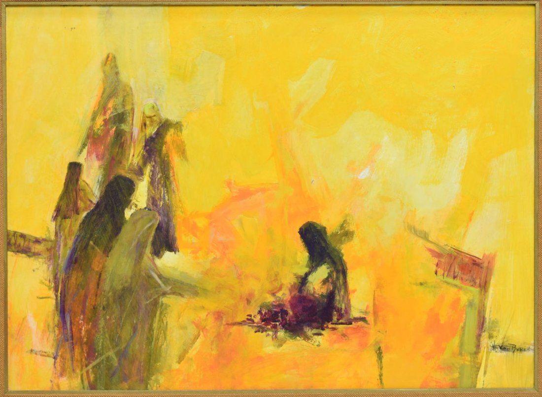 HELEN VAN BUREN (TEXAS, 1920-2003) LARGE PAINTING