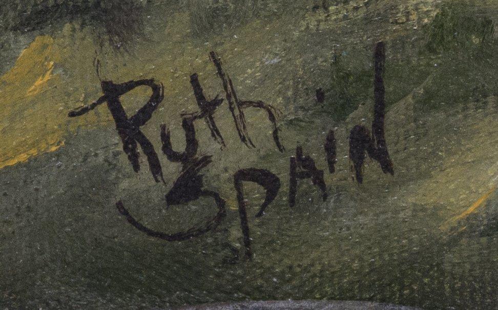 FRAMED OIL PAINTING TEXAS LANDSCAPE, RUTH SPAIN - 3