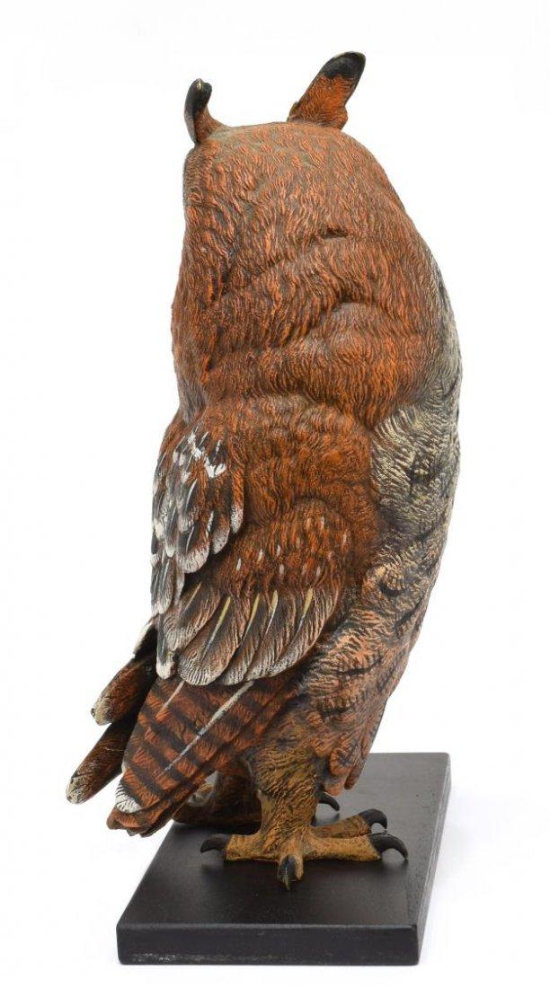 CARL KAUBA (1865-1922) SCARCE PAINTED BRONZE OWL - 2