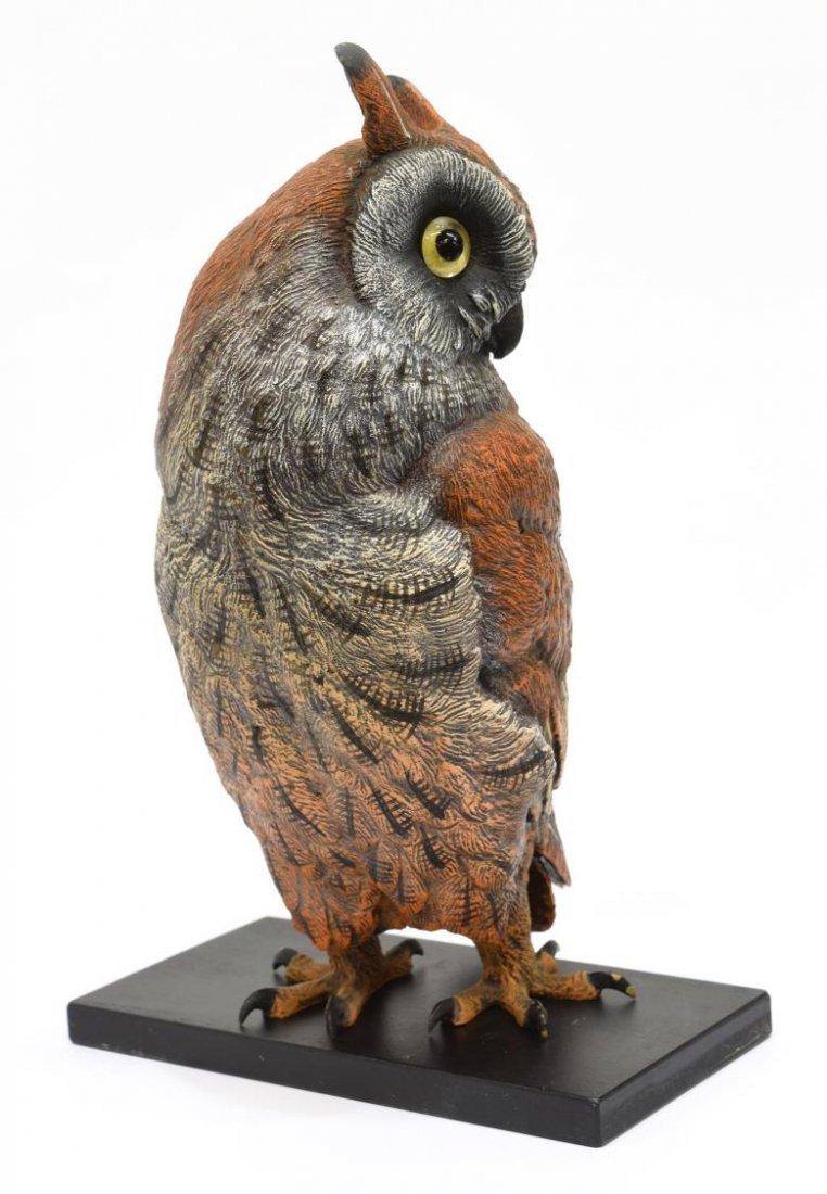 CARL KAUBA (1865-1922) SCARCE PAINTED BRONZE OWL - 6