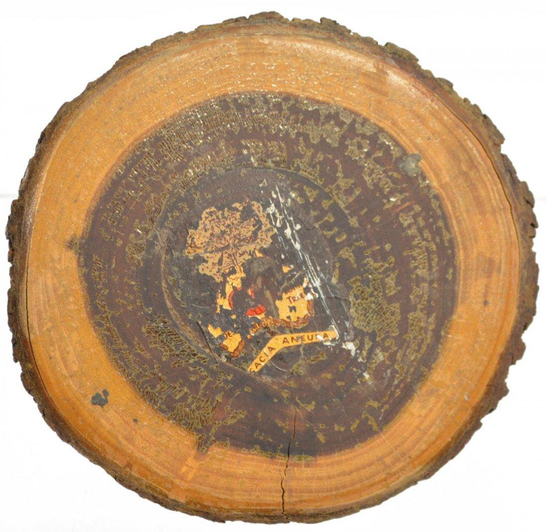 (2) BLACK FOREST STYLE DOG & CARVED LOG INKWELLS - 8