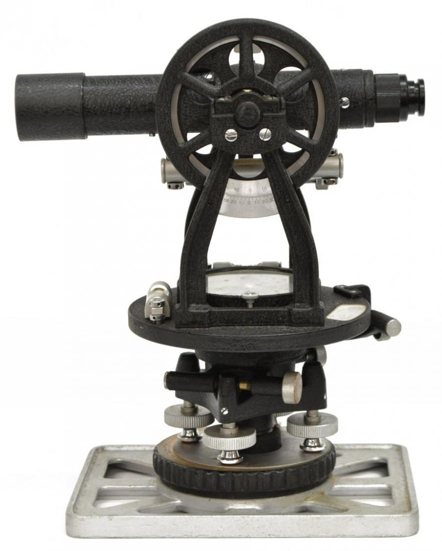 LIETZ MODEL 115 SURVEY TRANSIT & GURLEY COMPASS - 3