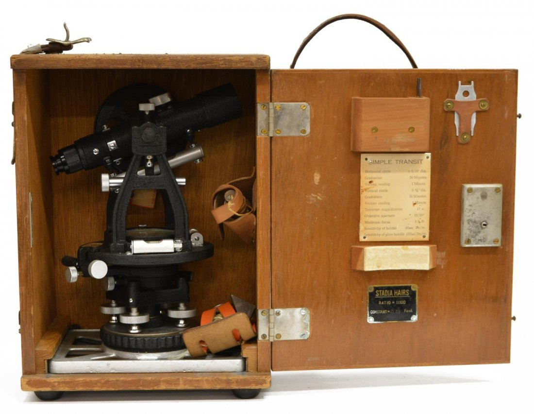 LIETZ MODEL 115 SURVEY TRANSIT & GURLEY COMPASS - 7