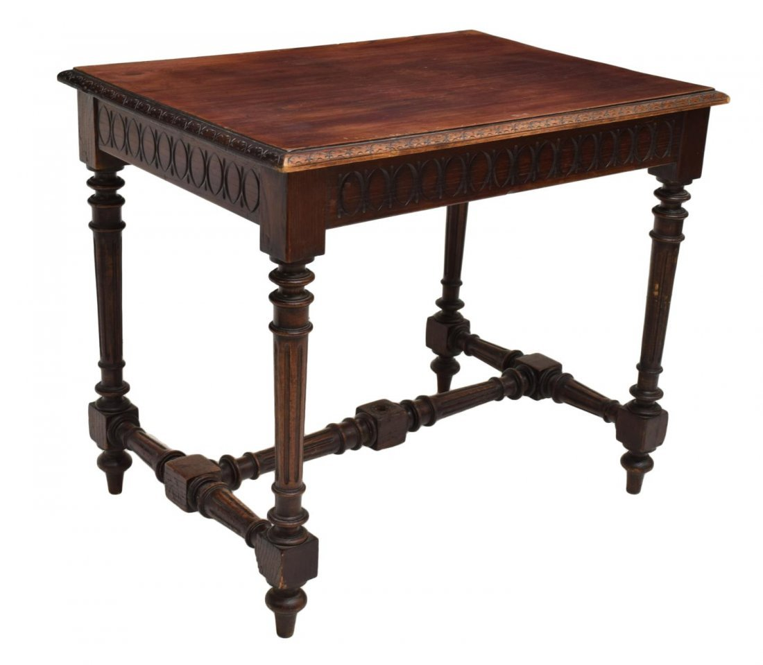 FRENCH HENRI II CARVED OCCASIONAL TABLE 19TH C