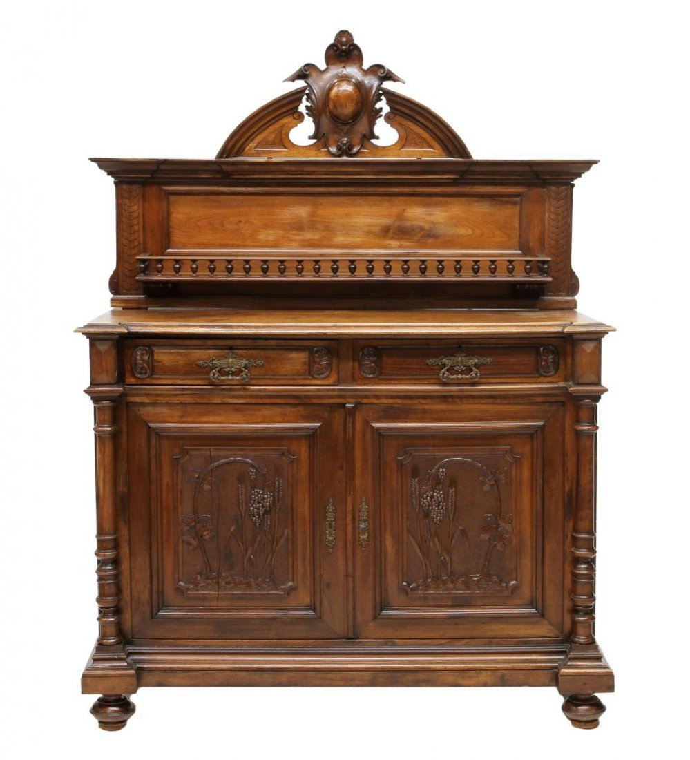 ANTIQUE ITALIAN CARVED SIDEBOARD, 19TH C. - 2