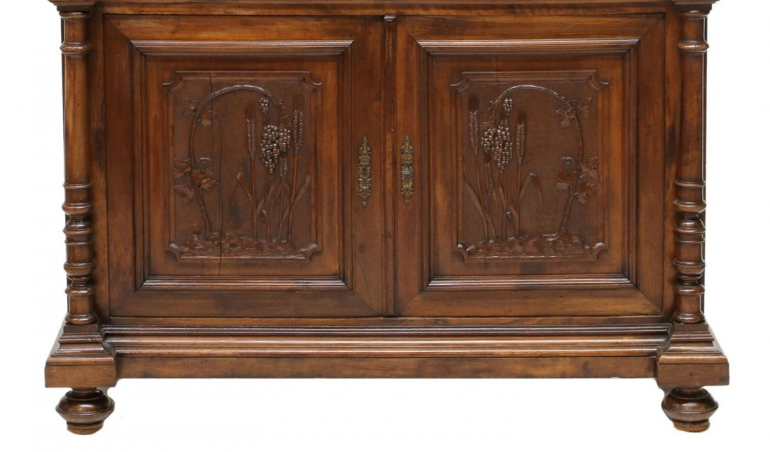 ANTIQUE ITALIAN CARVED SIDEBOARD, 19TH C. - 3