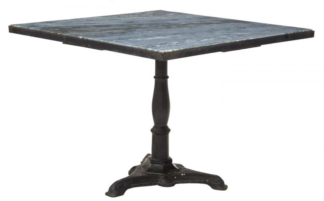 'AZUL DO MAR' QUARTZITE & IRON DINING TABLE