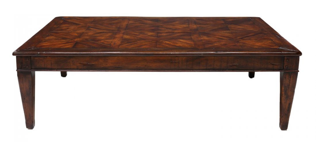 LARGE THEODORE ALEXANDER WALNUT COFFEE TABLE - 3