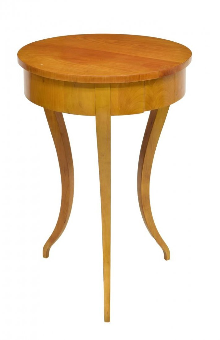 DANISH BIEDERMEIER ROUND OCCASIONAL TABLE C. 1900