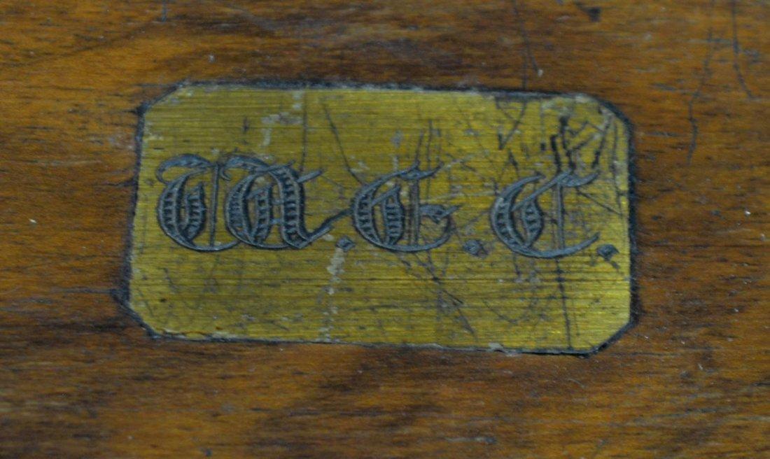 (2) ENGLISH MAHOGANY LAP DESK & OAK LETTER BOX - 7