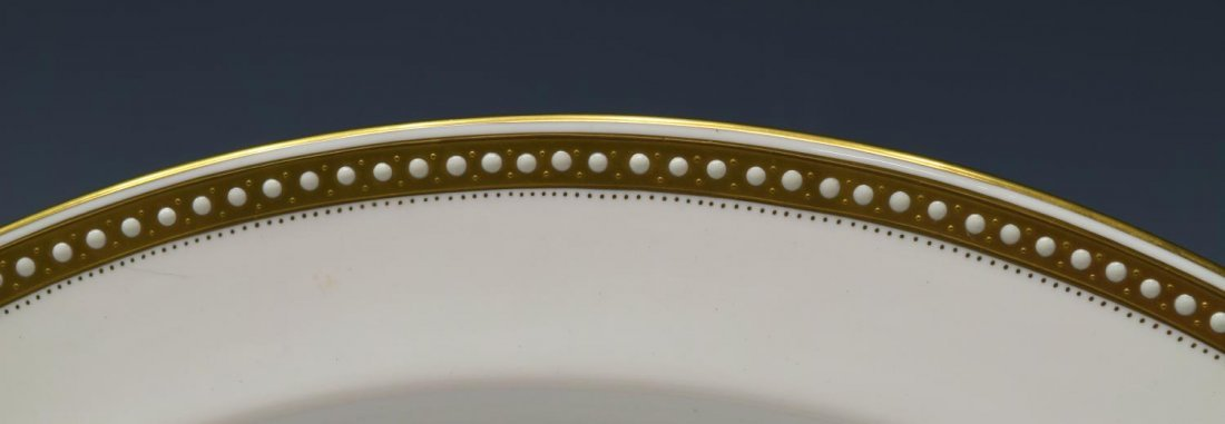 (88)FINE SPODE BONE CHINA GOLD & ENAMEL DINNER SET - 3