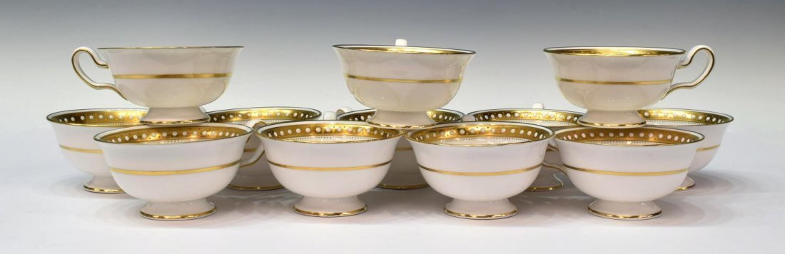 (88)FINE SPODE BONE CHINA GOLD & ENAMEL DINNER SET - 5