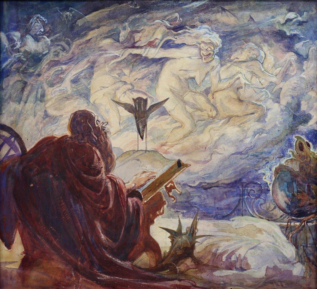ALAN ODLE (1888-1948) ATTRIB., WATERCOLOR - 2
