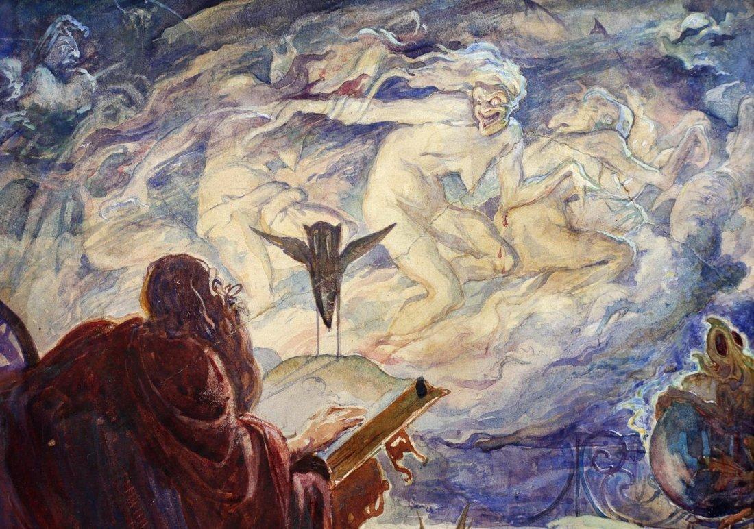 ALAN ODLE (1888-1948) ATTRIB., WATERCOLOR - 3